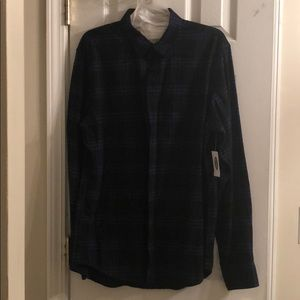 Old navy black and blue flannel shirt
